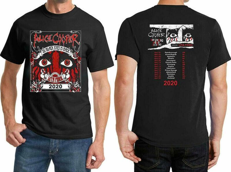 Alice Cooper 2020 Ol Black Eyes is Back Tour Music T-Shirt