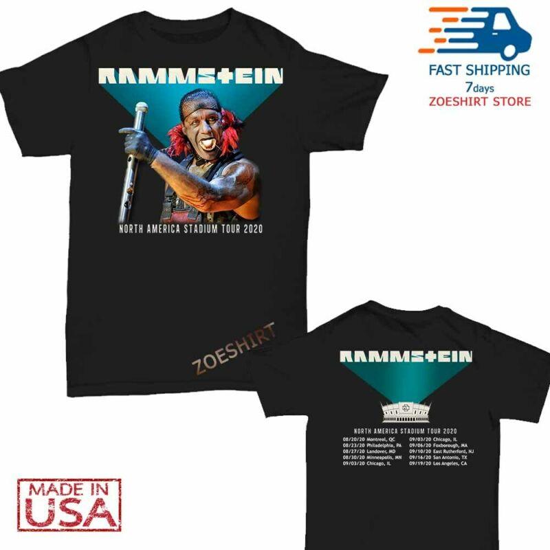 Rammstein t Shirt North American tour 2020 T-Shirt Size Men Black M-2XL