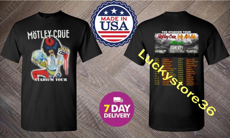 New Shirt Motley Crue The Stadium Tour 2020 T-Shirt Size Men Black.S-3XL.