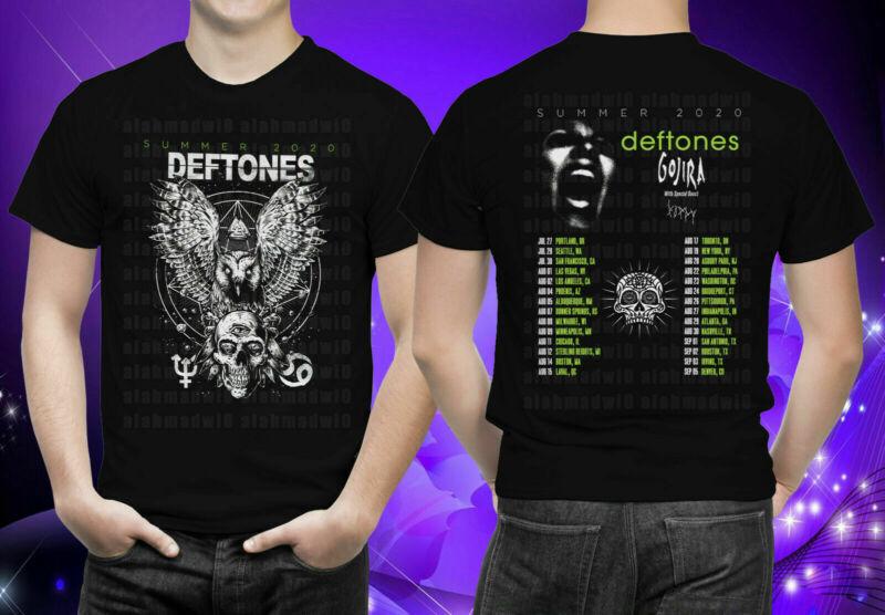 DEFTONES Summer Tour 2020 With Gojira & Poppy Black T-Shirt S-5XL