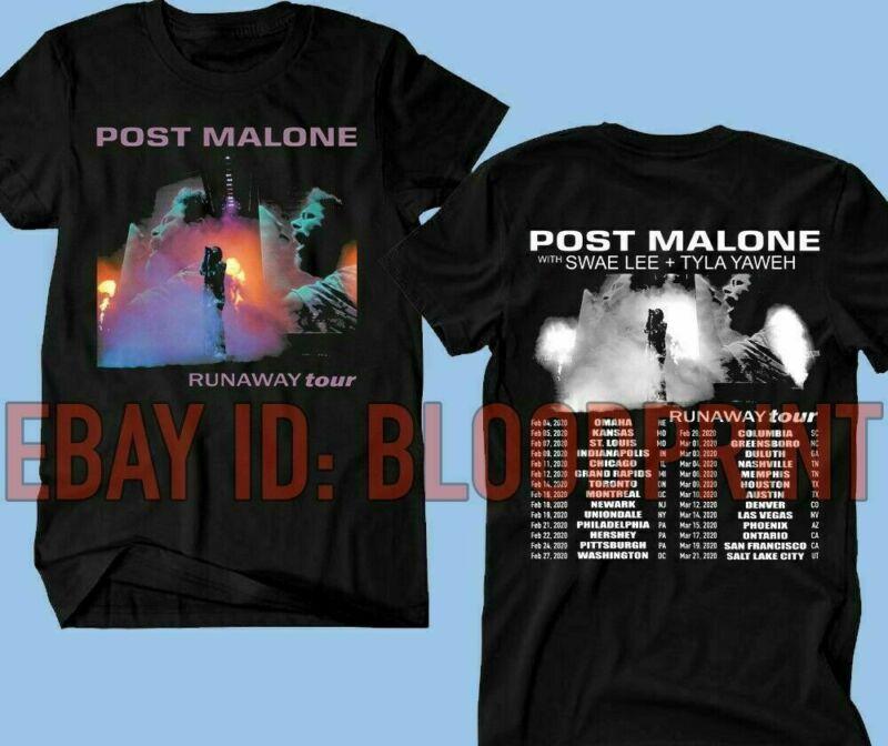 POST MALONE Runaway Tour 2020 T SHIRT 100% Cotton New
