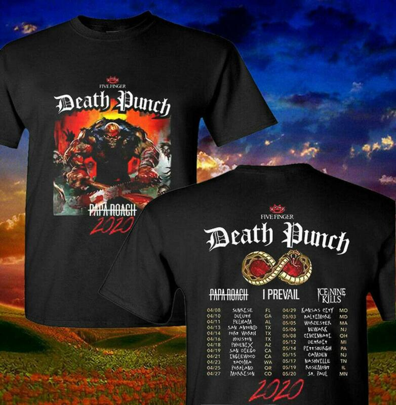 New Five Finger Death Punch 2020 Concert Tour T-Shirt