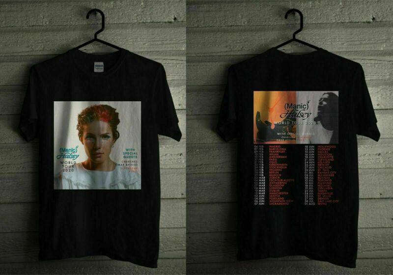 Halsey Manic World Tour 2020 T Shirt Casual Tee