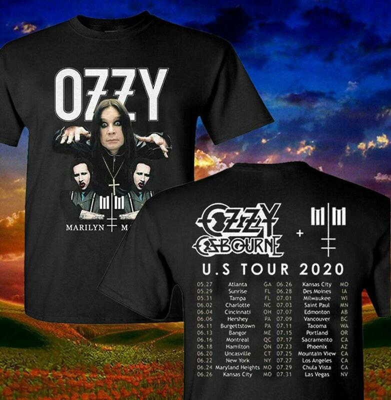Ozzy Osbourne with Marilyn Manson T Shirt 2020 U.S Tour T-Shirt