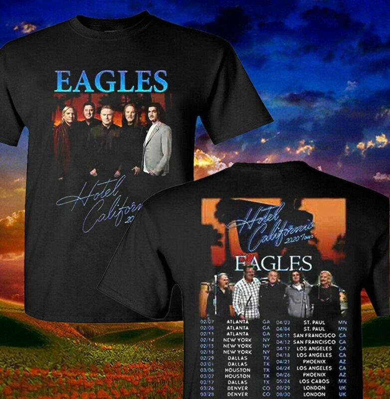 New Eagles T Shirt Hotel California Tour Dates 2020 T-Shirt Men Black S-3XL