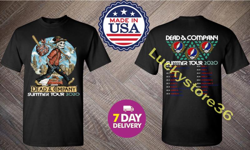 Dead and Company Summer Concert Tour 2020 Men Black T Shirt.All Size.