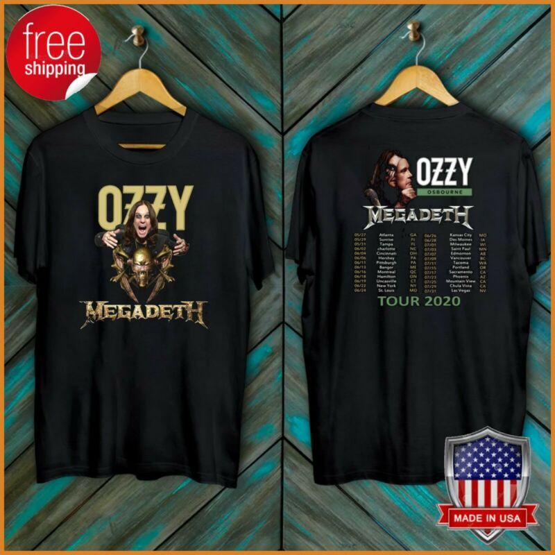 FREESHIP Ozzy Osbourne Tour Date T-Shirt Megadeth 2020 No More Tours Tee S-6XL