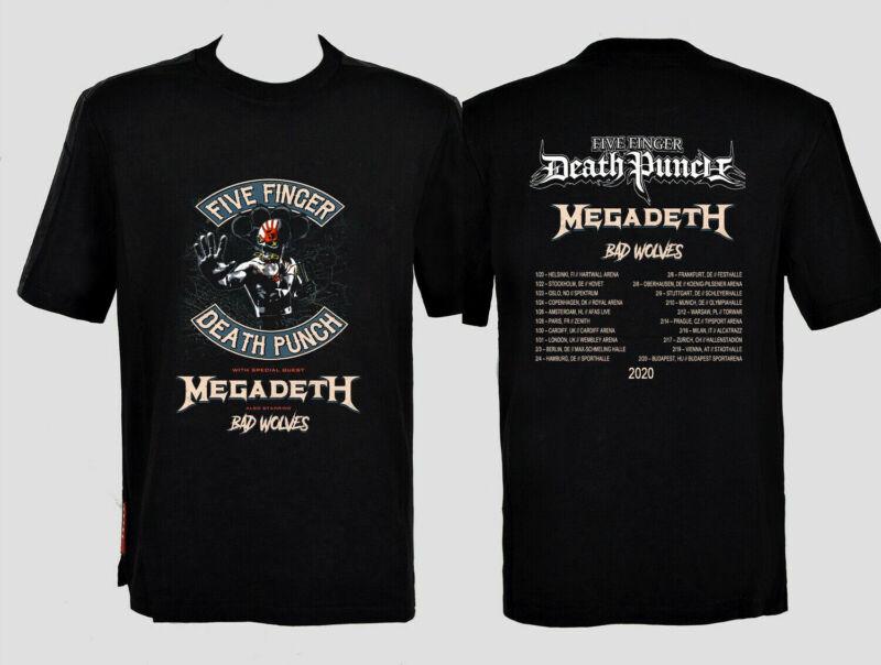 Five Finger Death Punch 2020 tour with Megadeth & Bad Wolves T-shirt