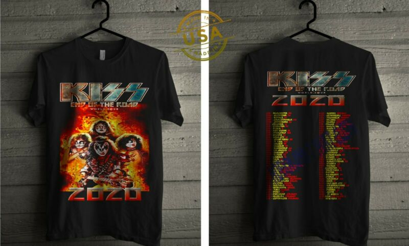 NEW   KISS End Of The Road 2020 Final World Tour USA SZ BLACK T SHIRT SZ S-3XL /NEW-KISS-End-Of-The-Road-2020-Final-313003968849.html