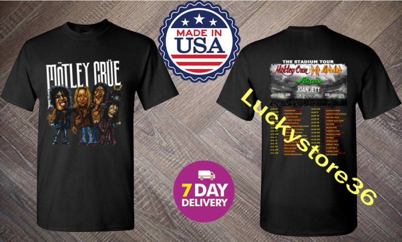 Motley Crue t Shirt The Stadium Tour 2020 T-Shirt Size Black.S-3XL.