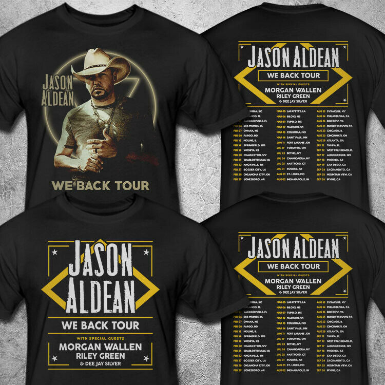Jason Aldean We Back Tour 2020 T shirt S-3XL MENS