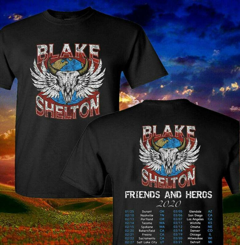 Blake Shelton 2020 Friends And Heros Concert Tour T-Shirt