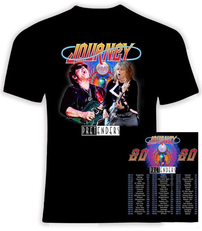 Journey and The Pretenders 2020 Concert Tour Gildan Cotton T-Shirt