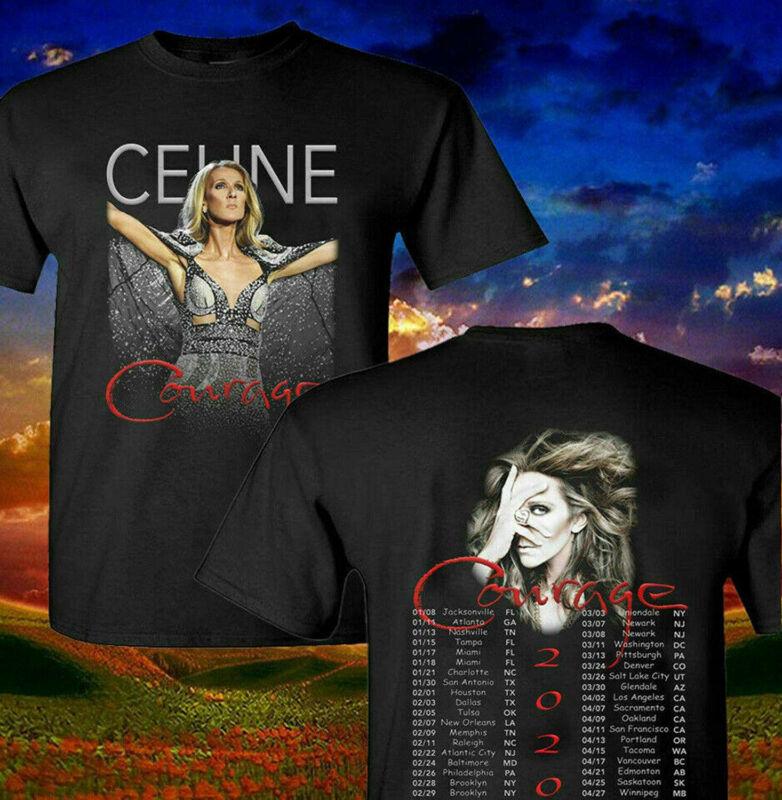Celine Dion 2020 Courage Concert Tour Music T-Shirt Sizes S-3Xl
