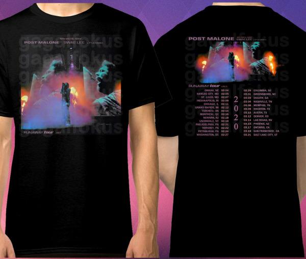 POST MALONE RUNAWAY LEG 2 TOUR DATES 2020 US shirt for man| awesome gift| amazin