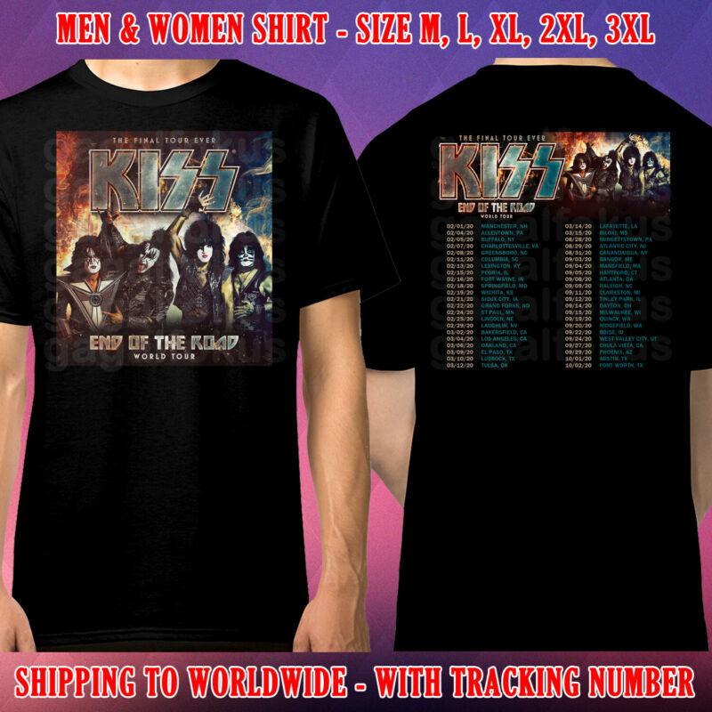 Kiss End Of The Road Tour Dates 2020 Black Shirt Size M-3xl Galfok Free