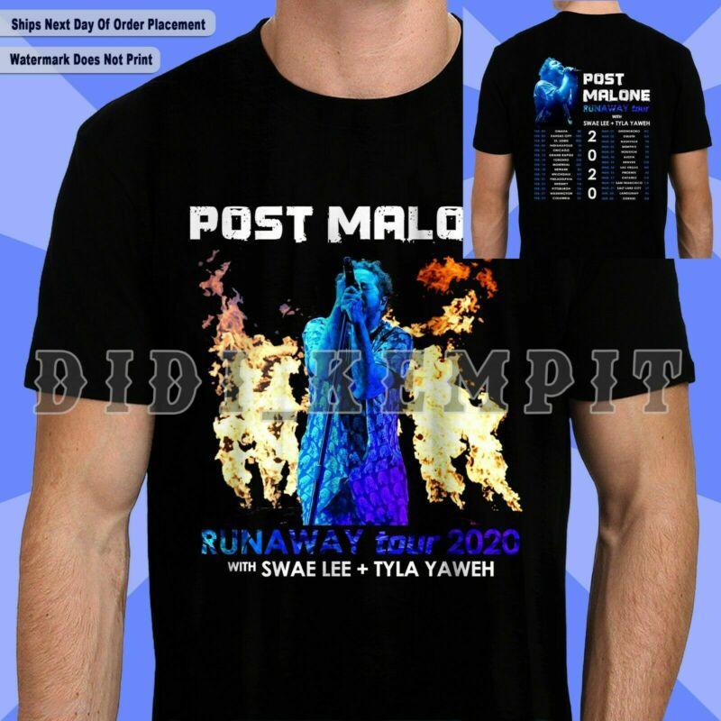 New POST MALONE with Swae Lee+Tyla Yaweh Runaway Tour 2020 T Shirt S-5XL