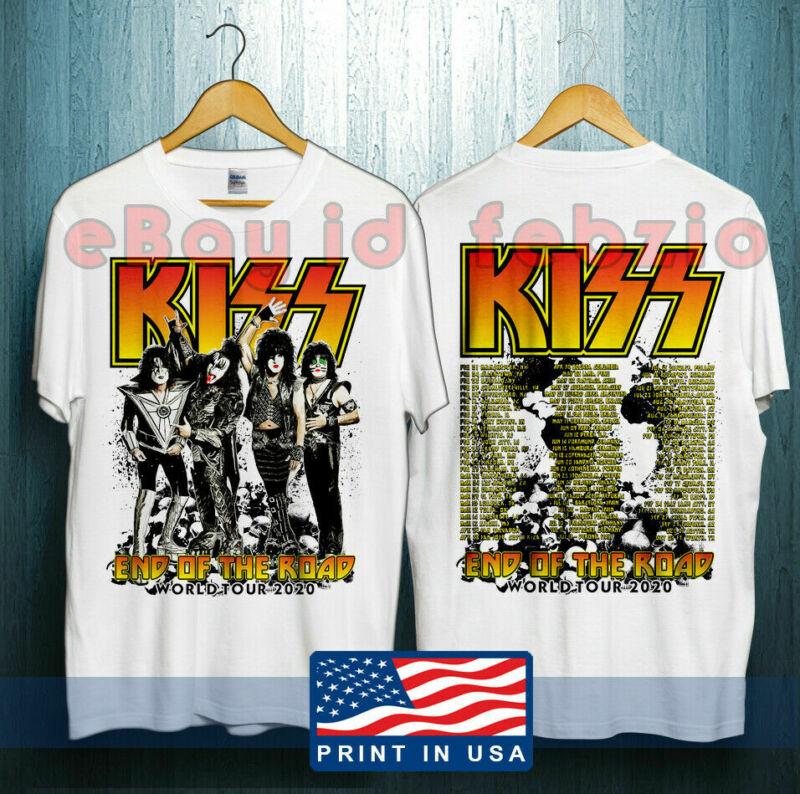 KISS End Of The Road World Tour 2020 Leg 5 - 8 Complete Dates Concert T-shirt !