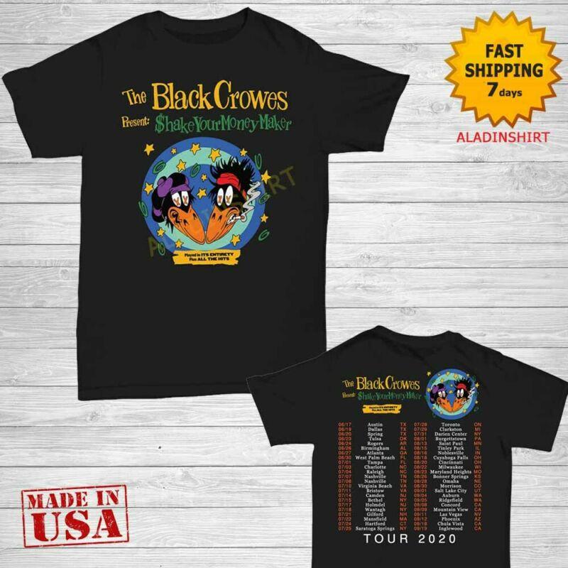 The Black Crowes t Shirt 30th anniversary tour 2020 T-Shirt Size M-2XL Men Black