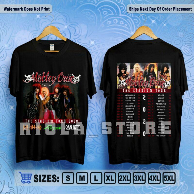 Motley Crue T-Shirt The Stadium Tour 2020 Feat Def Leppard  Poison & Joan Jett /Motley-Crue-T-Shirt-The-Stadium-Tour-2020-Feat-383323660127.html