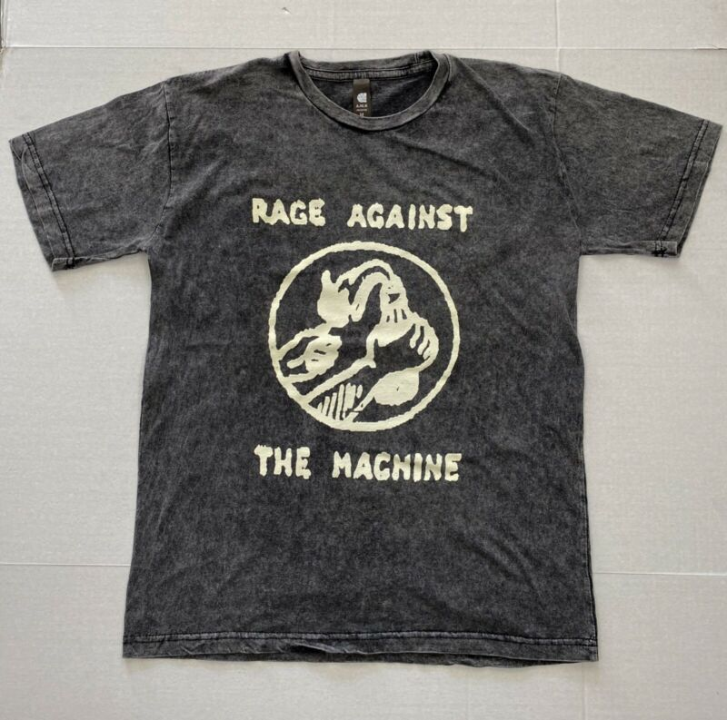 Rage Against the Machine Men T shirt Vintage Inspired Look Tour 2020