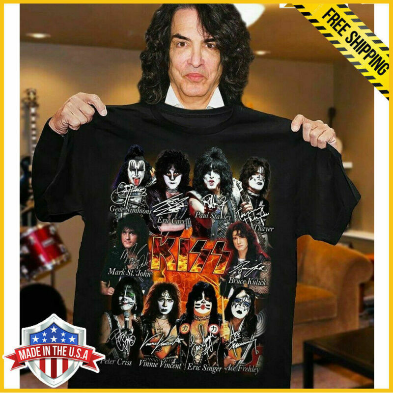 New KISS Band T-Shirt End of the Road Farewell Tour 2020 T-shirt full size black