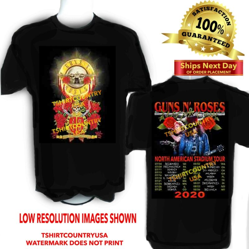 Guns N Roses 2020 Stadium Concert Tour t shirt Sizes S to 6X and Tall Sizes