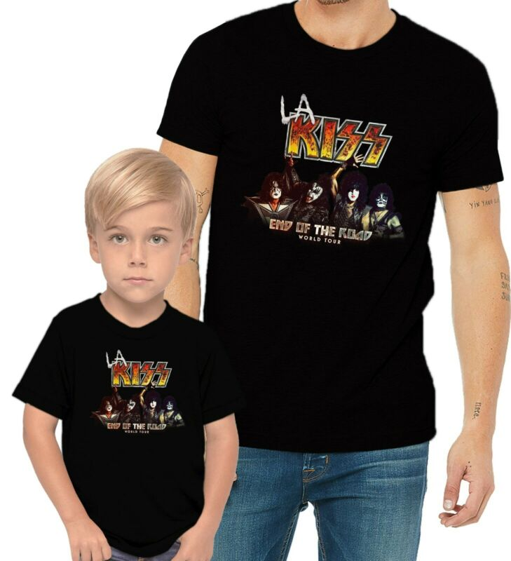 KISS Band 2020 End Of The Road World Tour LA Music Concert Adults & Kids T-Shirt