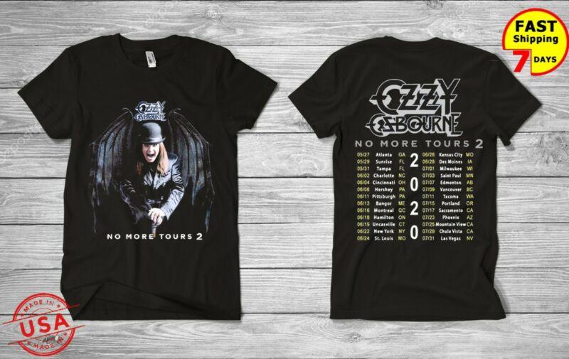 Limited Ozzy Osbourne Megadeth Shirt 2020 No More Tours 2 T-Shirt USA SZ S-5XL