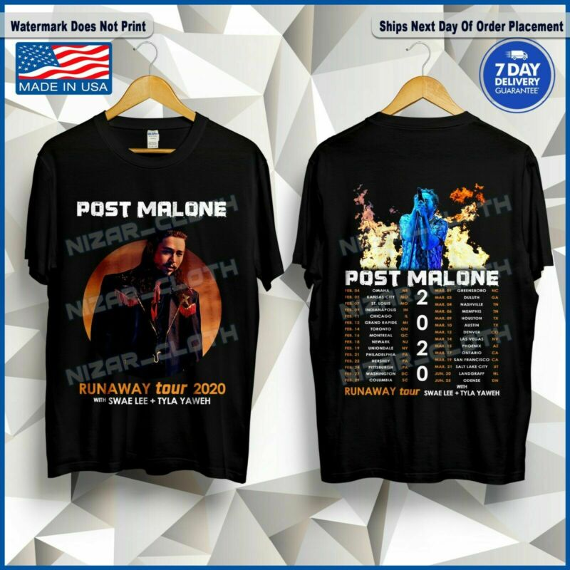 POST MALONE T-Shirt Runaway Tour 2020 with Swae Lee + Tyla Yaweh T-Shirt S-5XL