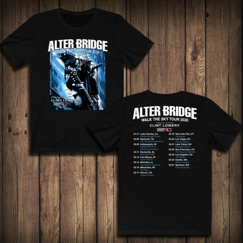 301-Alter Bridge with Clint Lowery Tour Dates 2020 T-SHIRT 100% GUARANTEE