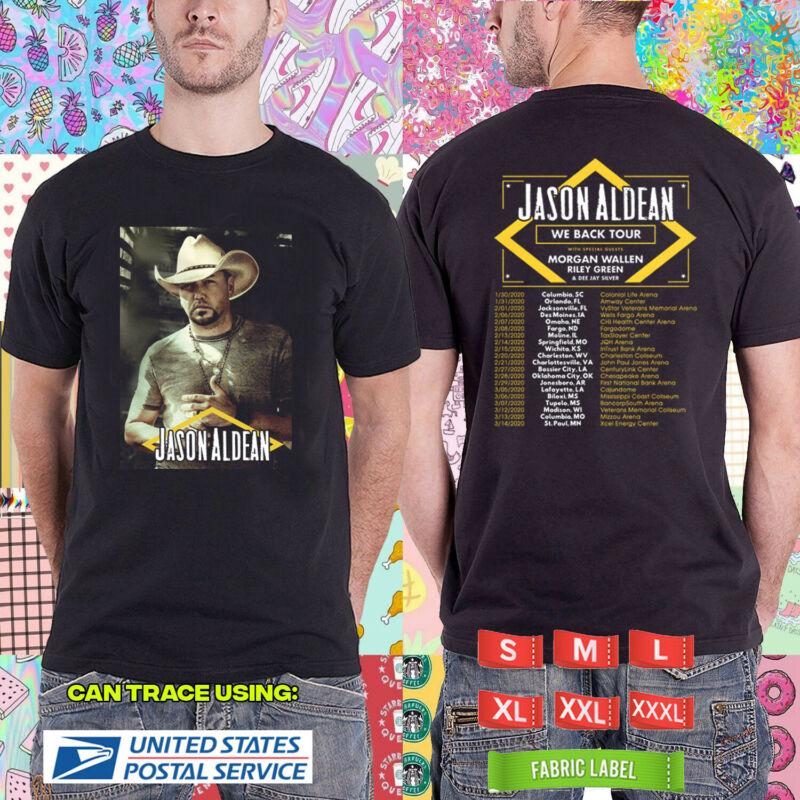 Jason Aldean We Back Tour 2020 Black Tshirt Tls01