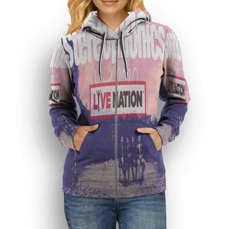 Stereophonics Tour 2020 Live Nation Hoodie Fullprint New Womens Hoodie Zipper