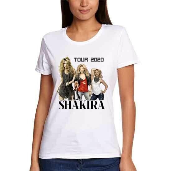 Shakira 2020 Tour Tshirt New Womens Tee T-Shirt