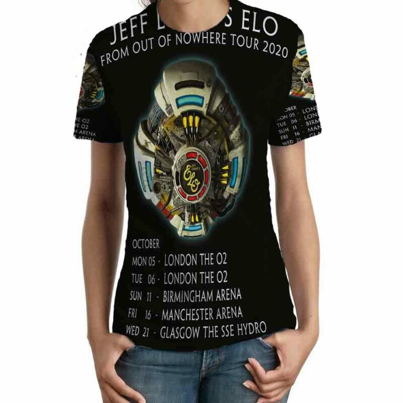 Electric Light Orchestra Tour 2020 TSHIRT Fullprint TEE New T-Shirt FOR Womens
