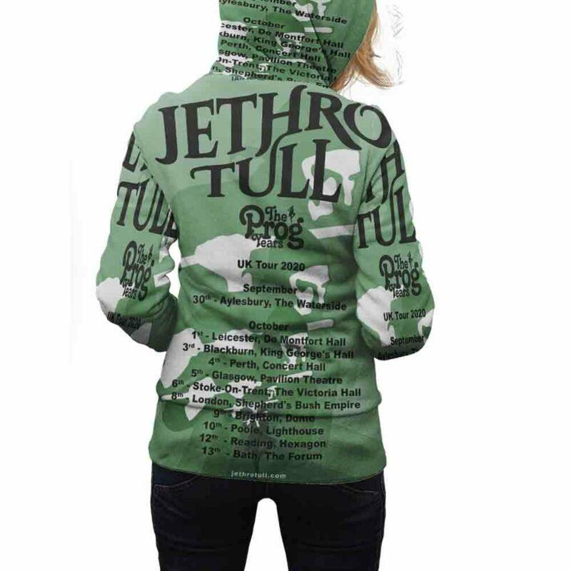 Jethro Tull 2020 Tour Hoodie Zipper New Womens Hoodie Fullprint Polyester