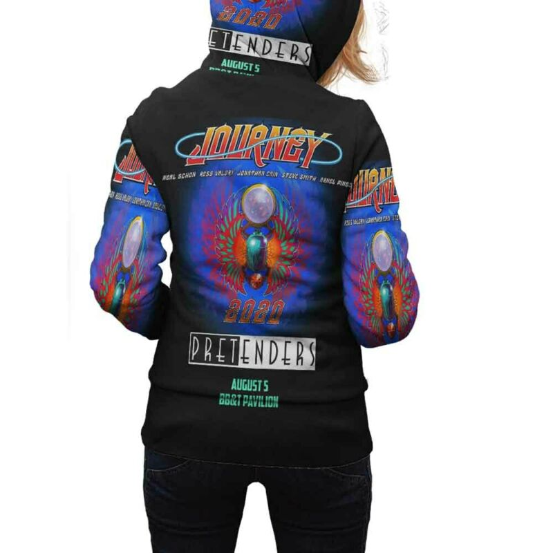 Journey Pretenders Tour 2020 Hoodie Zipper New Women Hoodie Fullprint Polyester