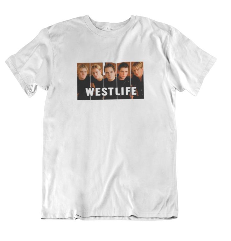Westlife Photo Retro Vintage Style 2020 Tour T-shirt Twenty Tour White T Shirt