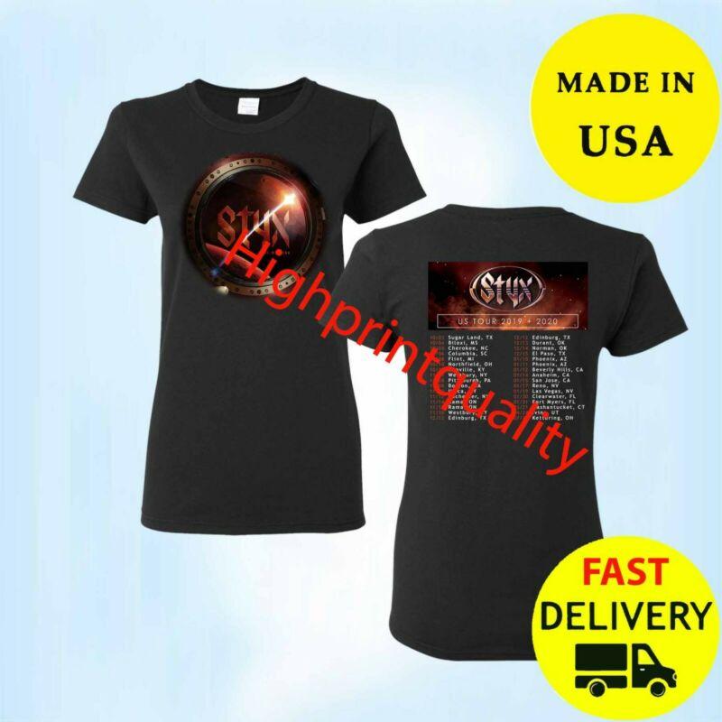 New Styx Shirt Tour 2020 T-Shirt Gift Black Womens Size M-3XL