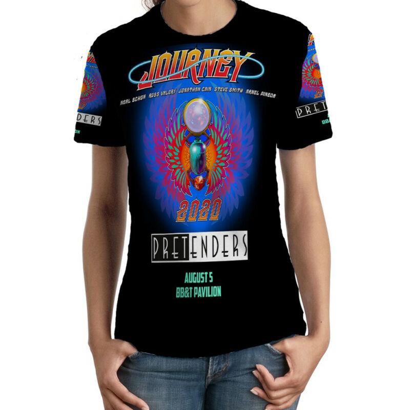 Journey Pretenders Tour 2020 TSHIRT Fullprint TEE New T-Shirt FOR Womens