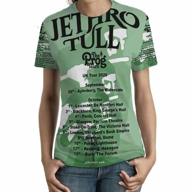 Jethro Tull The Prog Years UK Tour 2020 TSHIRT Fullprint New T-Shirt FOR Womens