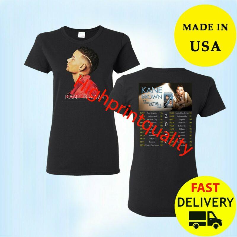Kane Brown Worldwide Beautiful Tour 2020 Women T-Shirt Gift Size M-3XL