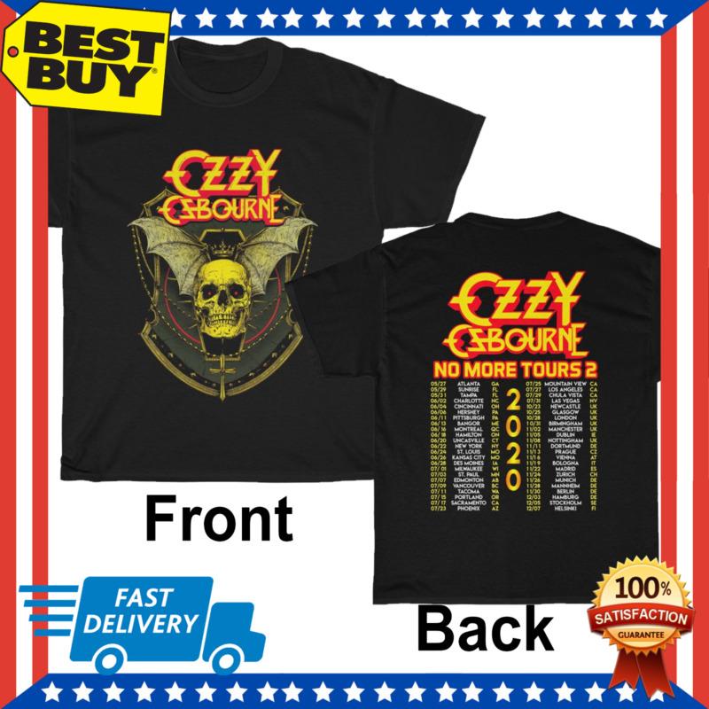 Limited Ozzy Osbourne Megadeth Shirt 2020 No More Tours 2 T-Shirt HOT