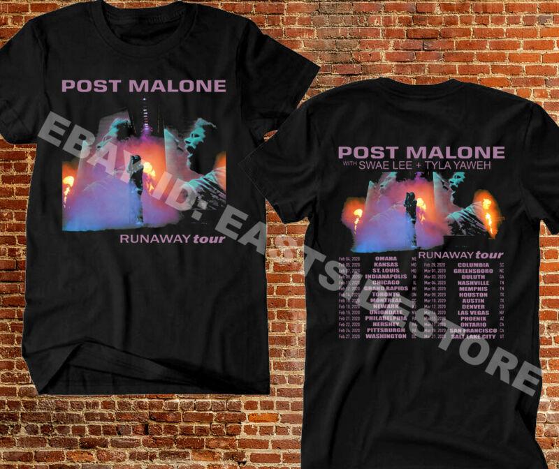 POST MALONE t-shirt Runaway Tour 2020 Second Leg Hip Hop R&B Rap Concert Tee #2