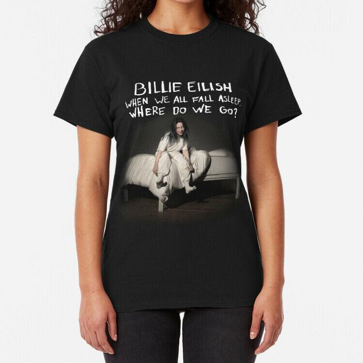 Billie Tour 2020 Eilish Where do we go Activewear Tops TShirt  Billie Women /Billie-Tour-2020-Eilish-Where-do-we-go-264606052213.html