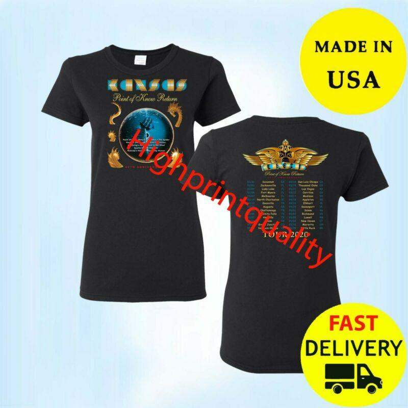 Kansas Rock Band Shirt Tour 2020 T-Shirt Black Gift Size M-3XL