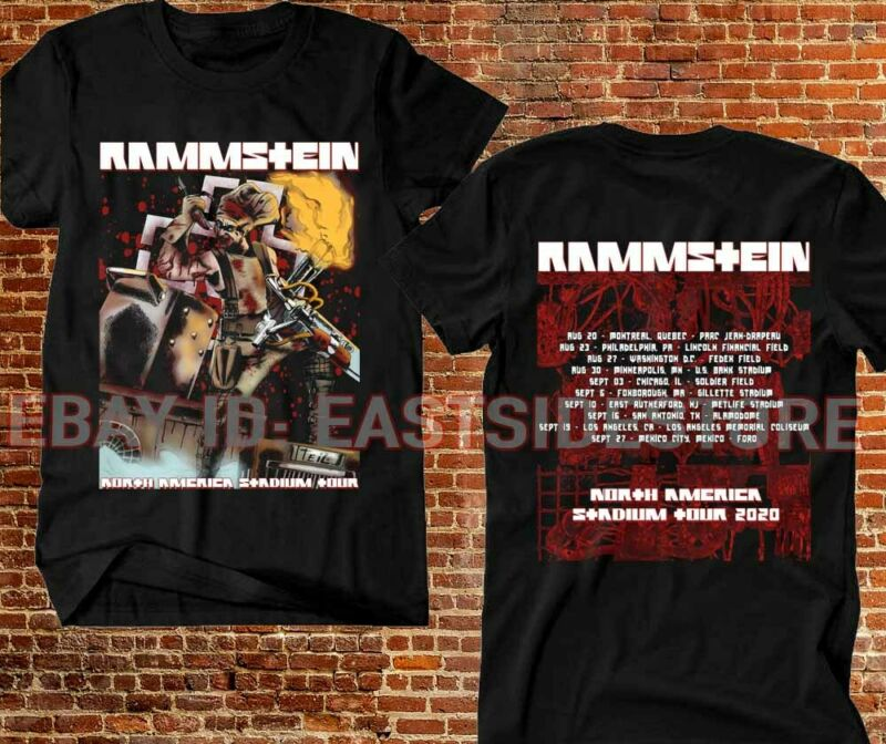 Rammstein T-shirt North America Stadium Tour 2020 Rock Industrial Music tee