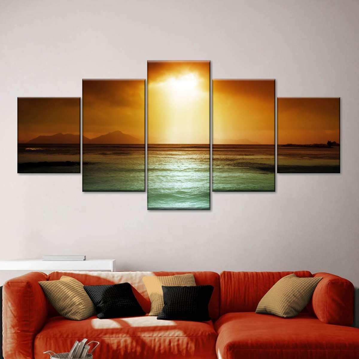 Sunset Glory Multi Panel Canvas Wall Art