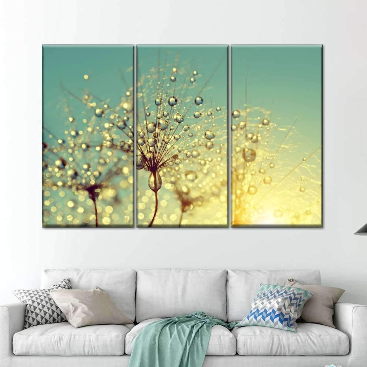 Dewy Flower Multi Panel Canvas Wall Art