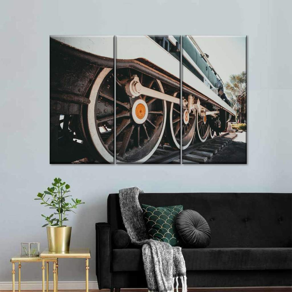 Old Train Multi Panel Canvas Wall Art